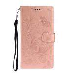Pouzdro Xiaomi Redmi Note 8T - Motýli - růžové
