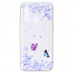 Obal Huawei P40 Lite E - průhledný - Motýli 01
