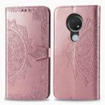 Pouzdro Nokia 6.2 / 7.2 - Mandala - růžové