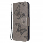 Pouzdro Nokia 6.2 / 7.2 - Motýli - šedé