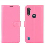 Pouzdro Motorola Moto E6s - růžové