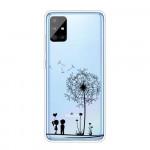 Obal Galaxy A51 - Průhledné - Pampelišky 02