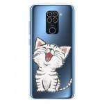 Obal Xiaomi Redmi Note 9 - průhledný - Kočka