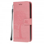 Pouzdro Huawei Y5P - růžové - Strom