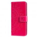 Pouzdro Xiaomi Redmi 9C - tmavě růžové - Mandala