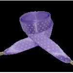 Módní tkaničky - saténové fialové s puntíky