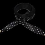 Módní tkaničky - černé s puntíky