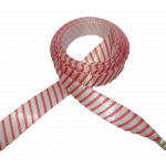 Módní tkaničky - červené pruhy