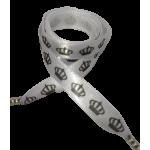 Módní tkaničky - černé korunky