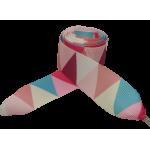 Módní tkaničky plátnové - růžové - mozaika