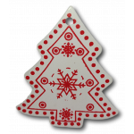Vánoční dřevěná ozdoba - vánoční stromeček bílý 01