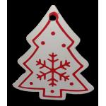 Vánoční dřevěná ozdoba - vánoční stromeček bílý 02