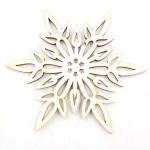 Vánoční dřevěná ozdoba - sněhová vločka 01