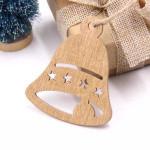Vánoční dřevěná ozdoba - zvonek 02