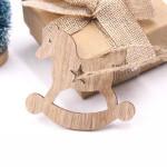 Vánoční dřevěná ozdoba - houpací kůň