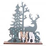 Vánoční dřevěná ozdoba - Xmas