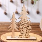 Vánoční dřevěná ozdoba - Santa Claus