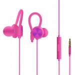 Sluchátka kabelová - tmavě růžová