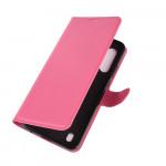 Pouzdro Motorola Moto G8 Power Lite - tmavě růžové