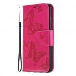 Pouzdro Honor 8A - růžové květy a motýli