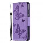 Pouzdro Honor 8A - fialové květy a motýli