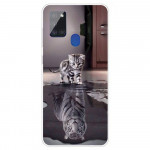 Pouzdro Galaxy A21s - Kotě a tygr