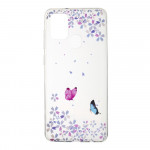 Pouzdro Galaxy A21s - Průhledné - Motýli