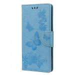 Pouzdro Motorola Moto E7 Plus / G9 Play - modré - Motýli