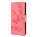 Pouzdro Motorola Moto E7 Plus / G9 Play - světle růžové - Motýli
