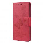 Pouzdro Motorola Moto E7 Plus / G9 Play - tmavě růžové - Motýli