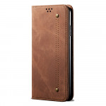 Pouzdro Galaxy Note 10 Lite - hnědé - Denim