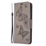Pouzdro Honor 9X Lite - šedé motýli