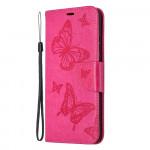 Pouzdro Honor 9X Lite - tmavě růžové motýli