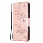 Pouzdro Honor 9X Lite - světle růžové motýli