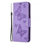 Pouzdro Honor 9X Lite - fialové motýli