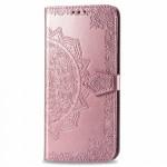 Pouzdro Galaxy S10 Lite - růžové - Mandala