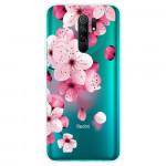Obal Xiaomi Redmi 9 - průhledný - Květy