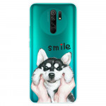 Obal Xiaomi Redmi 9 - průhledný - Pes