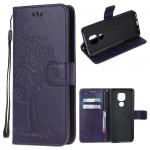 Pouzdro Motorola Moto E7 Plus / G9 Play - fialové - Strom