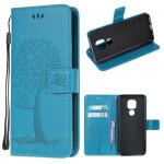 Pouzdro Motorola Moto E7 Plus / G9 Play - modré - Strom