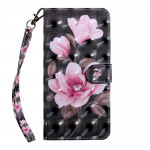 Pouzdro Motorola Moto E6s - Květy 3D 04