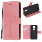 Pouzdro Motorola Moto E7 Plus / G9 Play - světle růžové - Strom