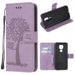 Pouzdro Motorola Moto E7 Plus / G9 Play - světle fialové - Strom