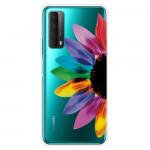 Obal Huawei P Smart 2021 - průhledný - Květ