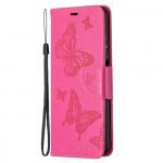 Pouzdro Xiaomi Mi 10T Lite 5G - tmavě růžové motýli