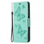 Pouzdro Xiaomi Mi 10T Lite 5G - tyrkysové motýli