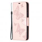 Pouzdro Nokia 3.4 - světle růžové motýli