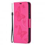 Pouzdro Nokia 3.4 - tmavě růžové motýli