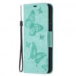 Pouzdro Nokia 3.4 - tyrkysové motýli