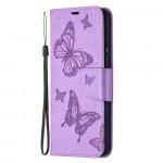 Pouzdro Nokia 3.4 - fialové motýli